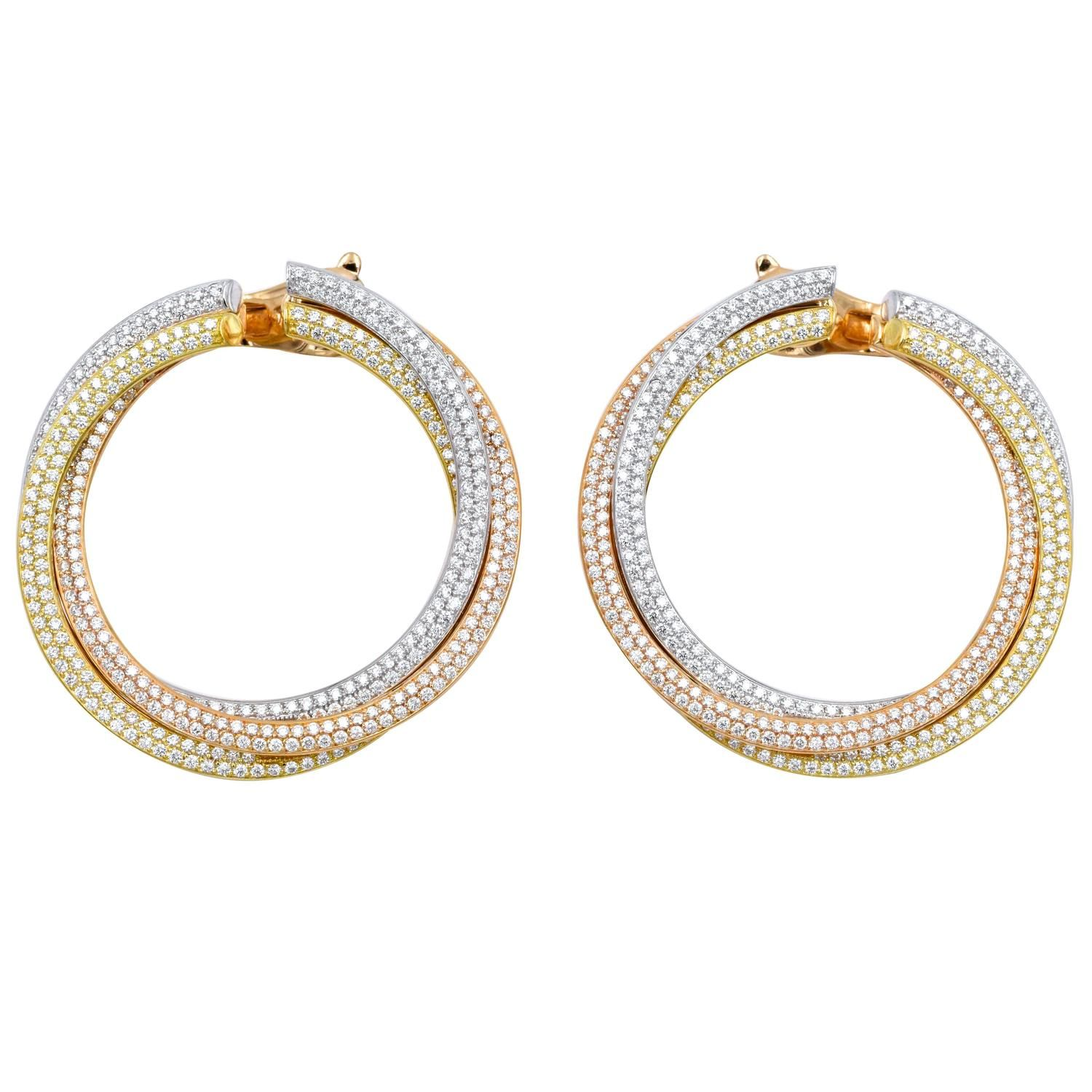realreal jewelry cartier de trinity products the enlarged earrings hoop