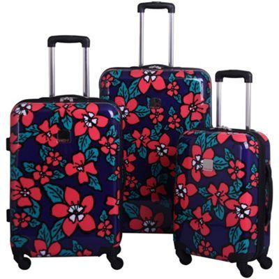 d3145f21f Tripp Hibiscus Hard 4-wheel Suitcase Range in Indigo/Coral- at ...