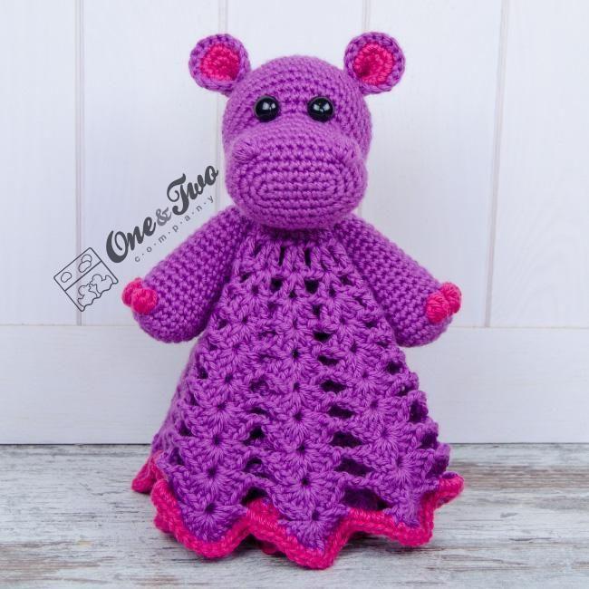 (4) Name: 'Crocheting : Pip the Hippo Lovey / Blanket