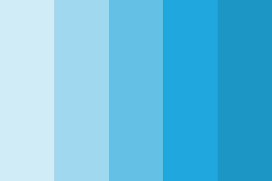 Sky Blue Color Shades Color Palette Colorpalettes Colorschemes