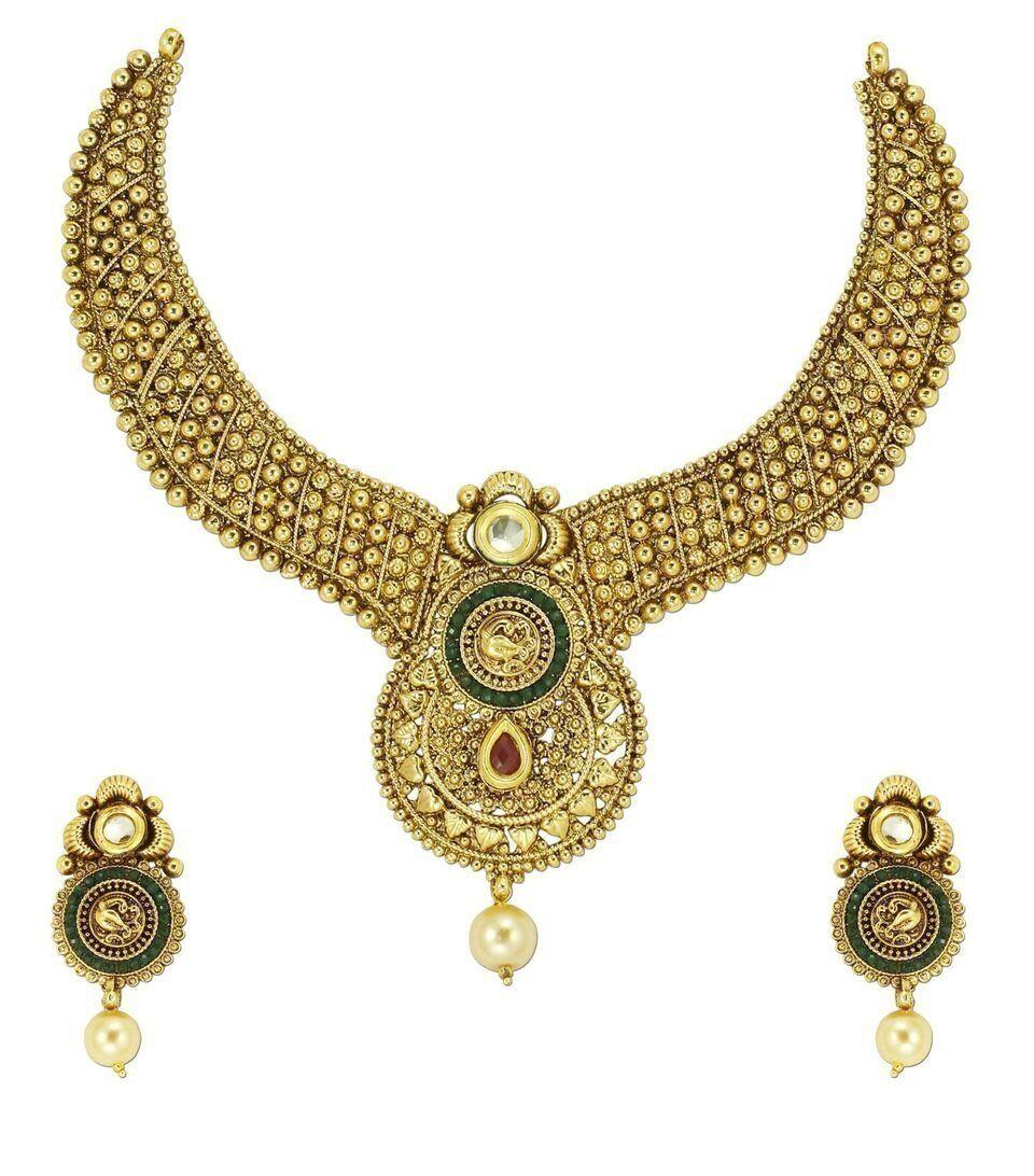 Zaveri pearls royal look necklace set zaveri pearls jewellery