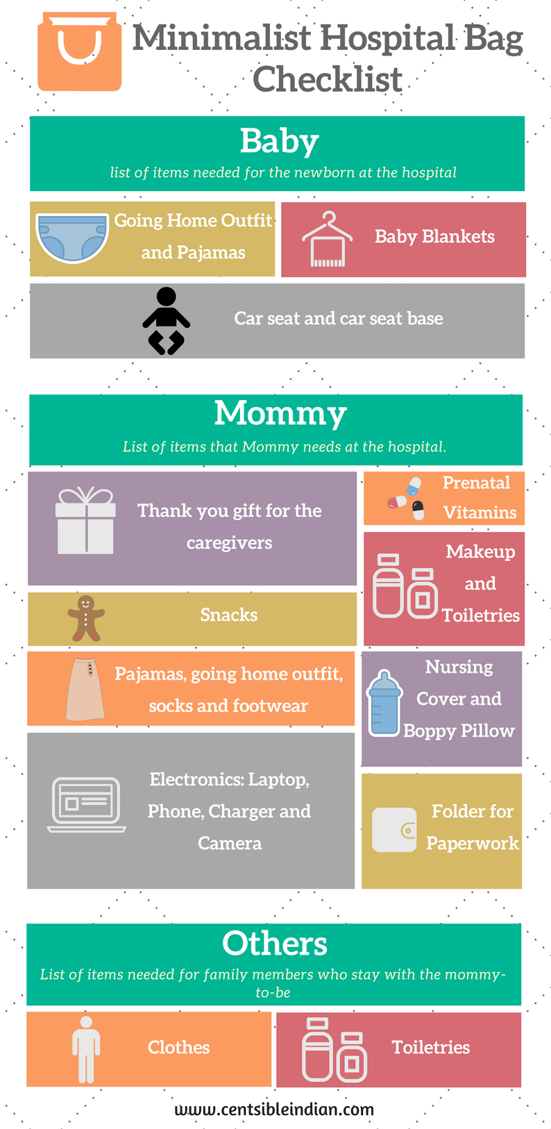 a9b98c81edd7a I create a hospital bag checklist that contains the absolutely minimal  things that an expecting mom