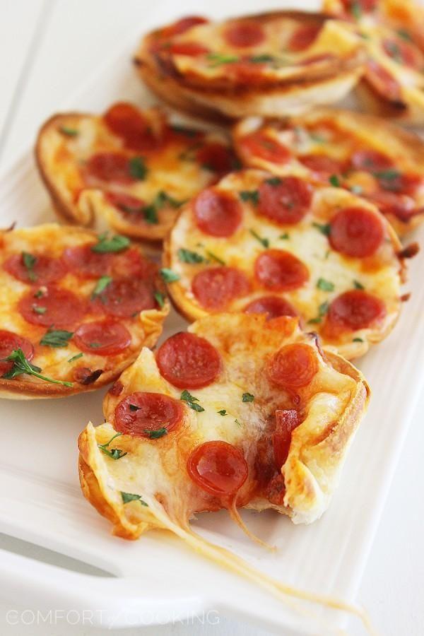 Easy Mini Tortilla Pizzas Recipe Mini Tortillas Tortilla Pizza Food