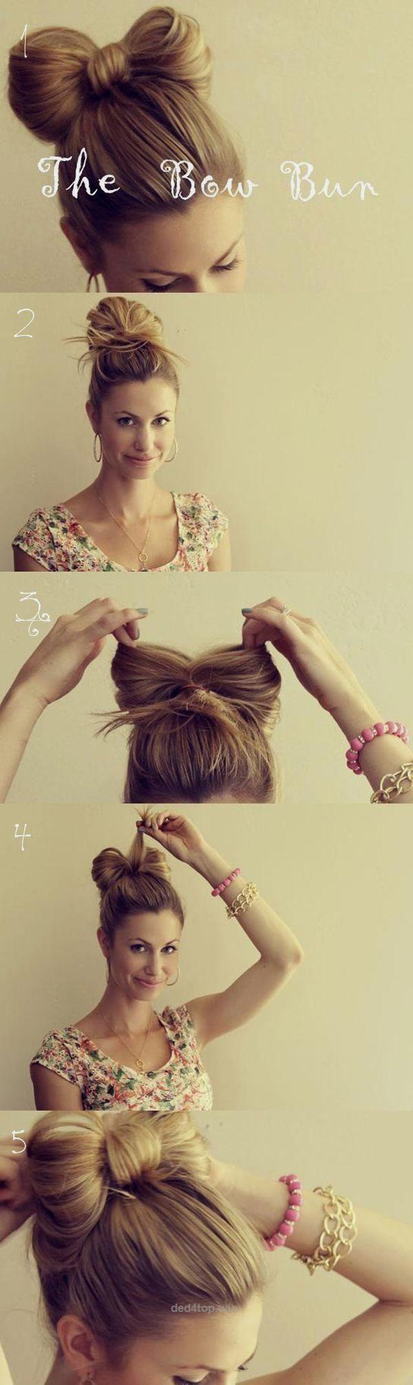 cute u easy bun hairstyles for long hair and medium hair quick