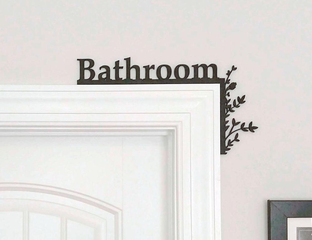 Bathroom Door Topper Over The Door Sign Bathroom Sign Restroom Sign Airbnb Host Sign Airbnb Decor In 2020 Bathroom Signs Bathroom Doors Door Signs
