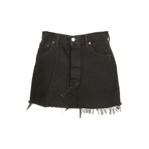 56458416f566 Levi's Black Denim Skirt W32 - Vintage clothing from Rokit - jean... ❤