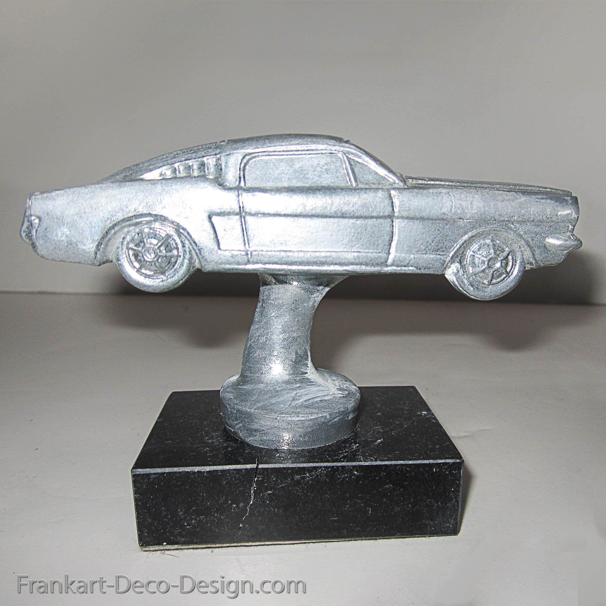1963 1964 1965 Ford Mustang Fastback Aluminum Hood Ornament Hood