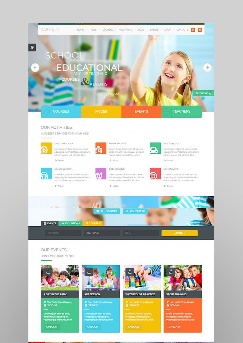 20 Top Education Wordpress Themes To Make School Sites Websitetemplates Education Wordpress Themes Web Design School Education Website Templates