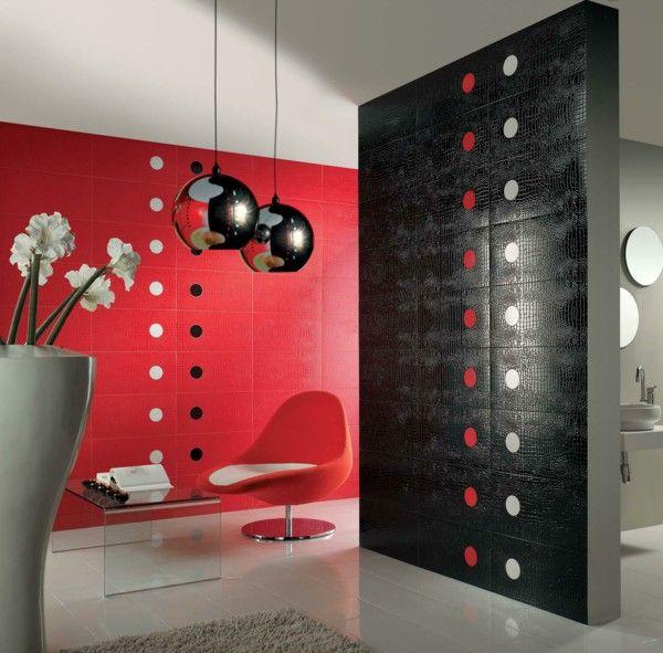 Tile Design Bathroom White Red And Black Bathroom Tiles