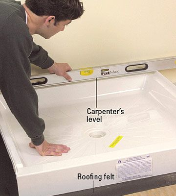 building a tiled shower enclosure | Home Improvement Tips | Pinterest