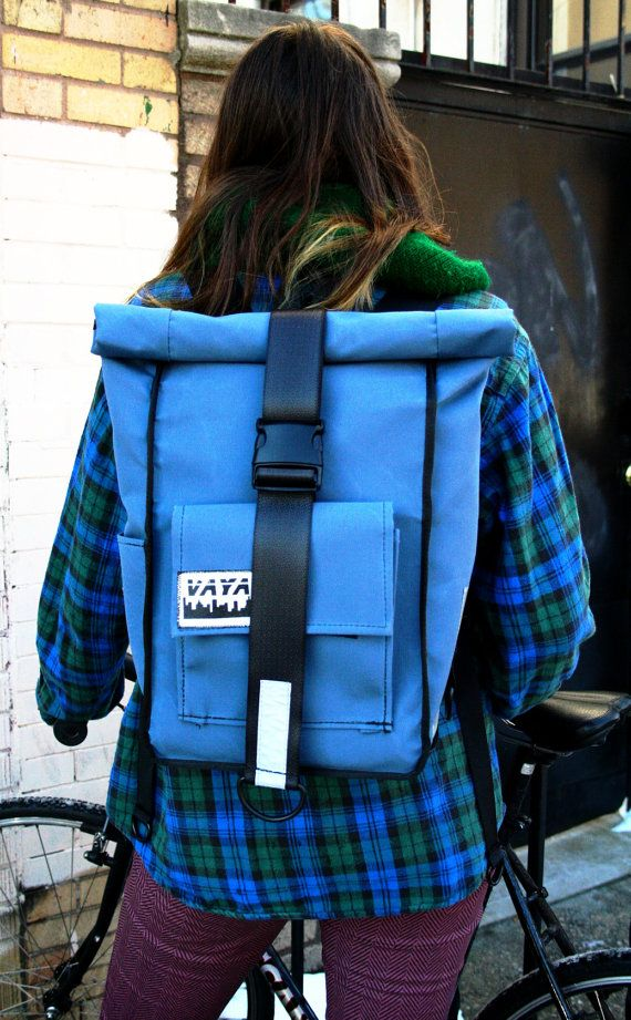 feea4e939026 Simple Rolltop Backpack by vayabags on Etsy