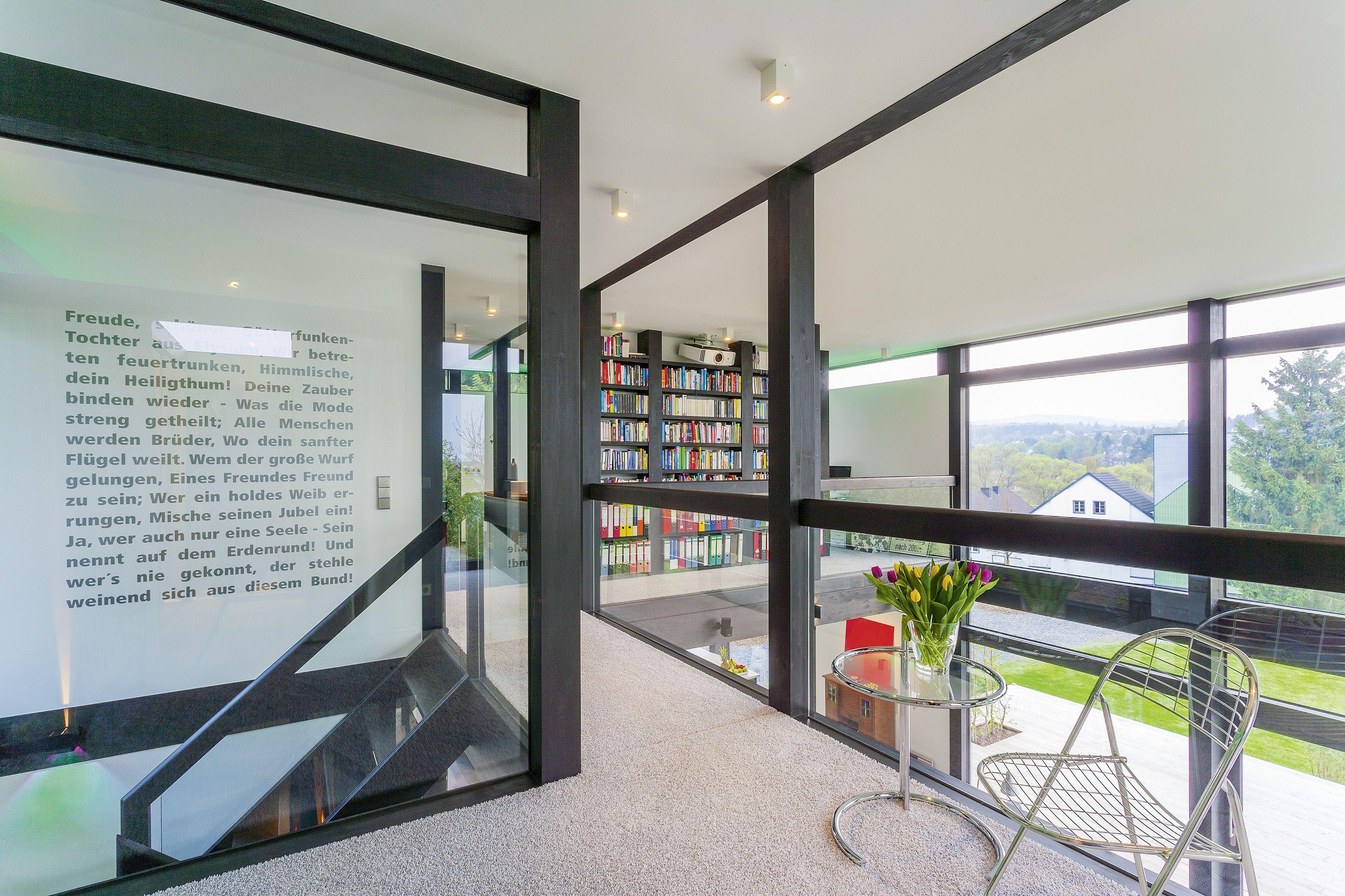 Stehle Wohnzimmer großzügige galerie im huf haus modum huf haus modum mit flachdach