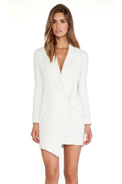 Casual Wedding Tux Dress