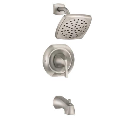 Moen Roman Tub Faucet 82504srn Lindor Spot Resist 8482 Brushed Nickel 1 Handle Fixed Wall Mount Bathtub Faucet In 2019 Bathroom Faucets Sink Faucets Shower Faucet
