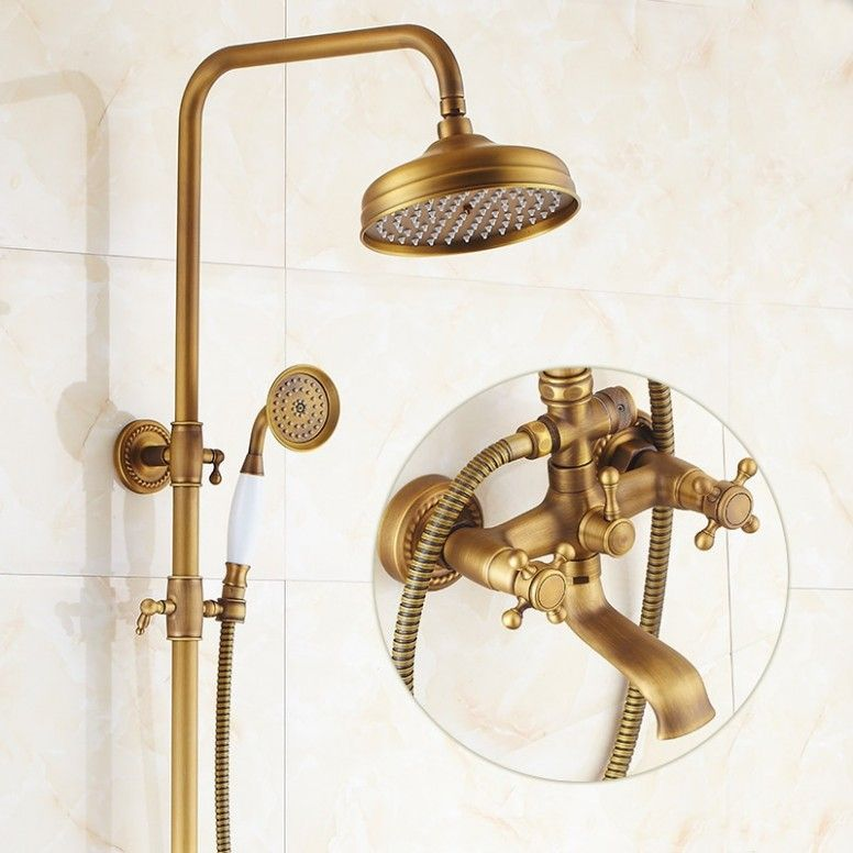 Photo of Copper bathroom shower screen