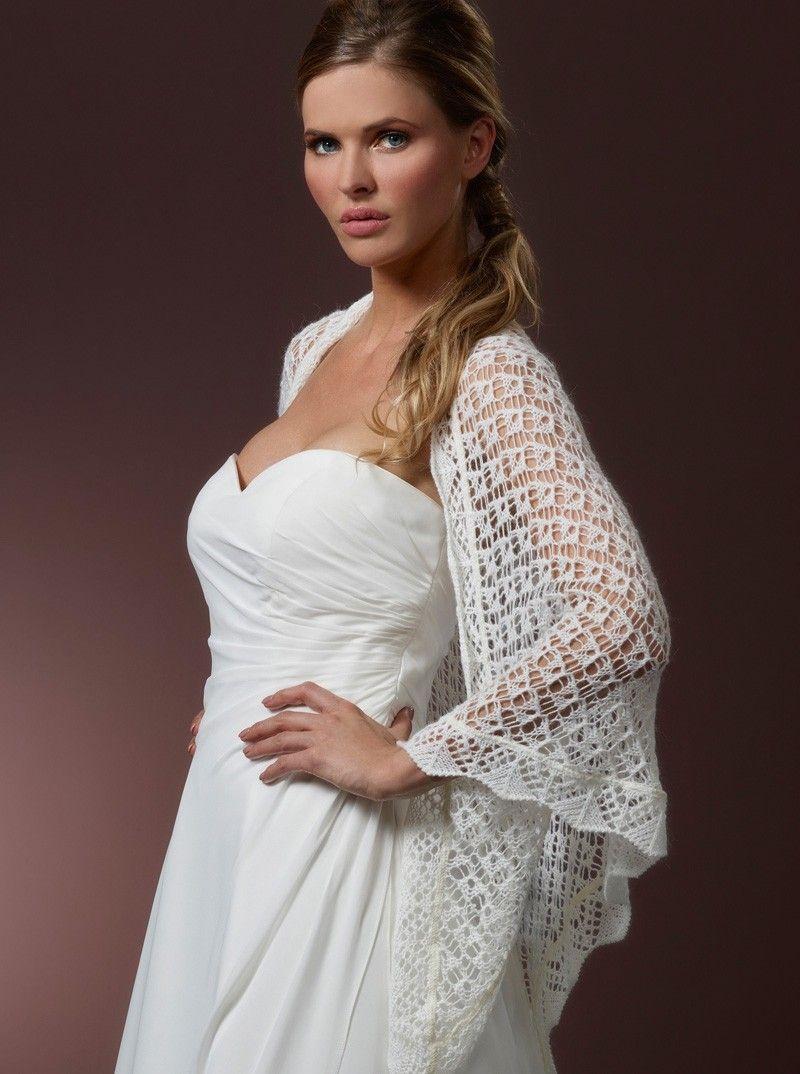 Gestrickte Stola S157 Poirier - The Beautiful Bride Shop   Bridal ...