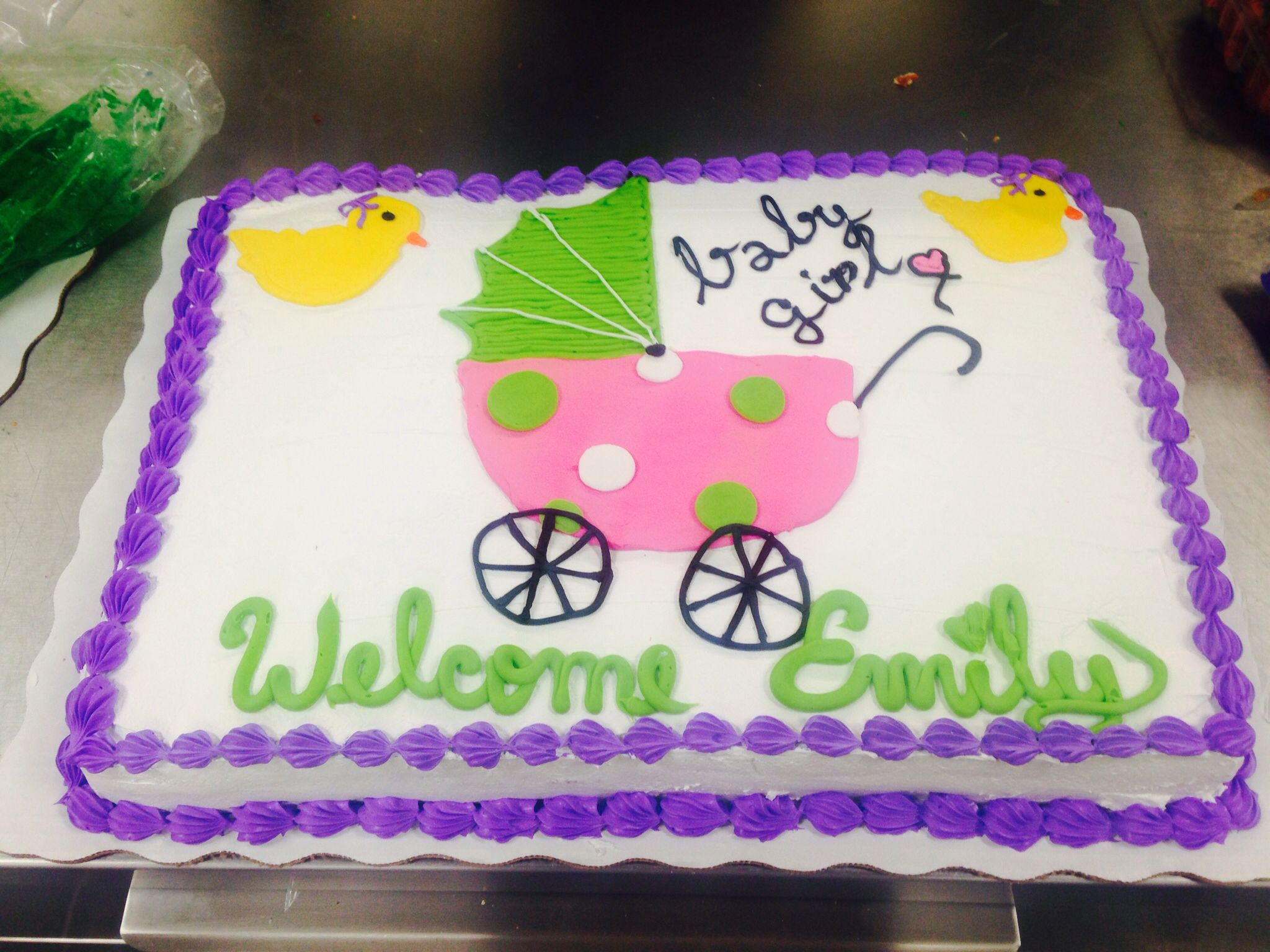 Special order for a customer, baby shower cake, walmart