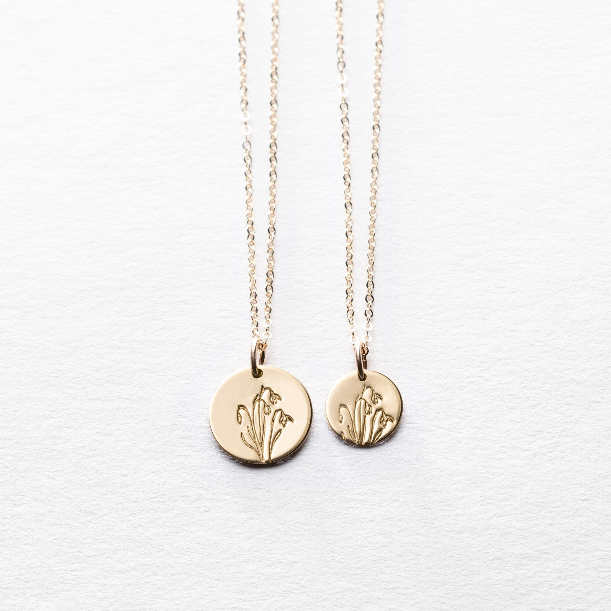 Snowdrop Flower Necklace In 2020 Coin Necklace Necklace Lavender Jewellery