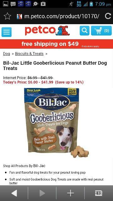 Bill Jack Little Gooberlicious Peanut Butter Dog Treats Peanut