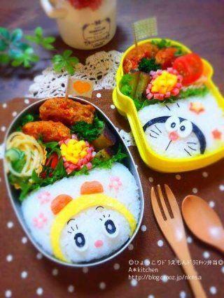 ひょっこり ドラえもんとドラミちゃんのお弁当 by maman crooz blog 料理 レシピ レシピ お弁当