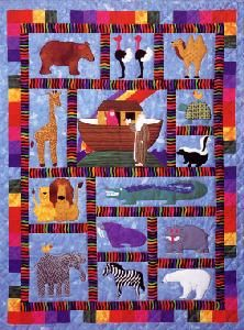 Noahs Ark After The Flood Animal Applique Quilt Pattern