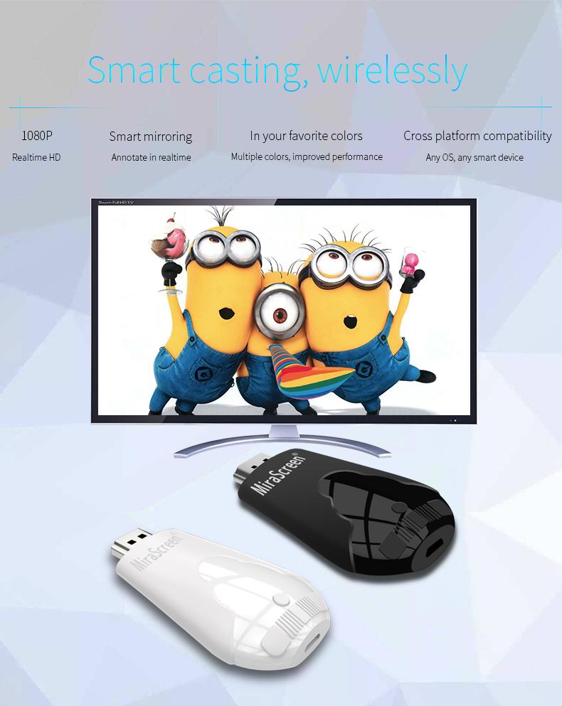 MiraScreen HDMI TV Stick anycast Miracast DLNA Airplay Chromecast