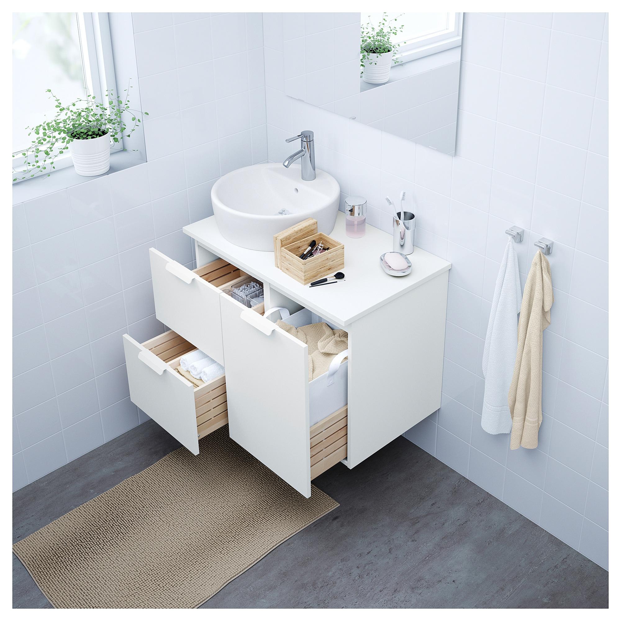Godmorgon Tolken Tornviken Waschbschr Waschb 45 Weiss Weiss Ikea Godmorgon Waschbeckenschrank Ikea