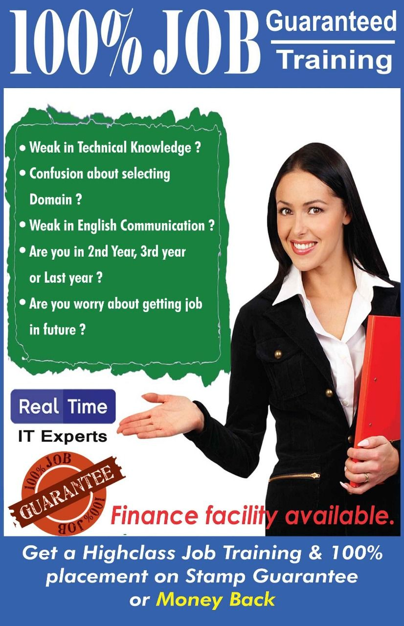 100 job Guarantee Courses in Pune !!!! We offer students