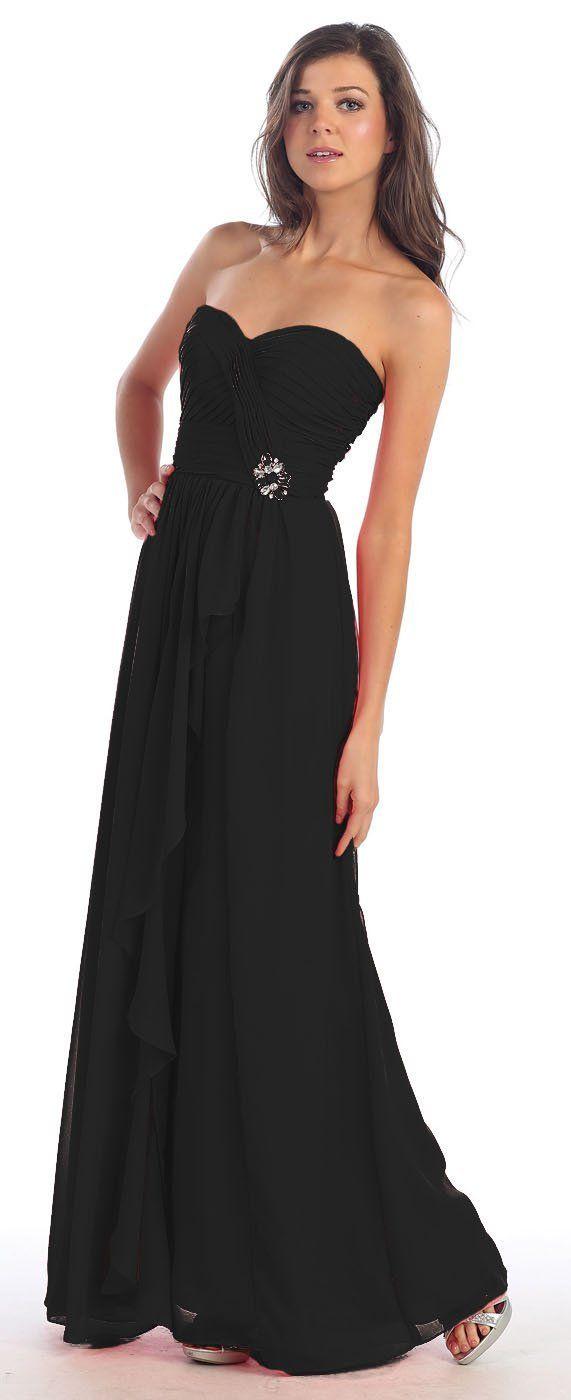 Black bridesmaids dresses collection of long black bridesmaid