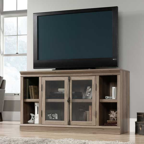 All Your Entertainment Gear In Style With This Sauder Barrister French Door Credenza