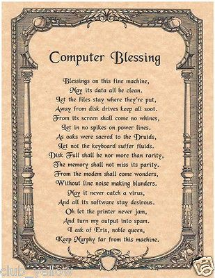 Blessing of computer
