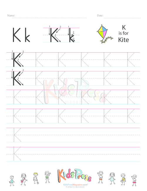 Handwriting Worksheet Letter K Handwriting Worksheets Worksheets