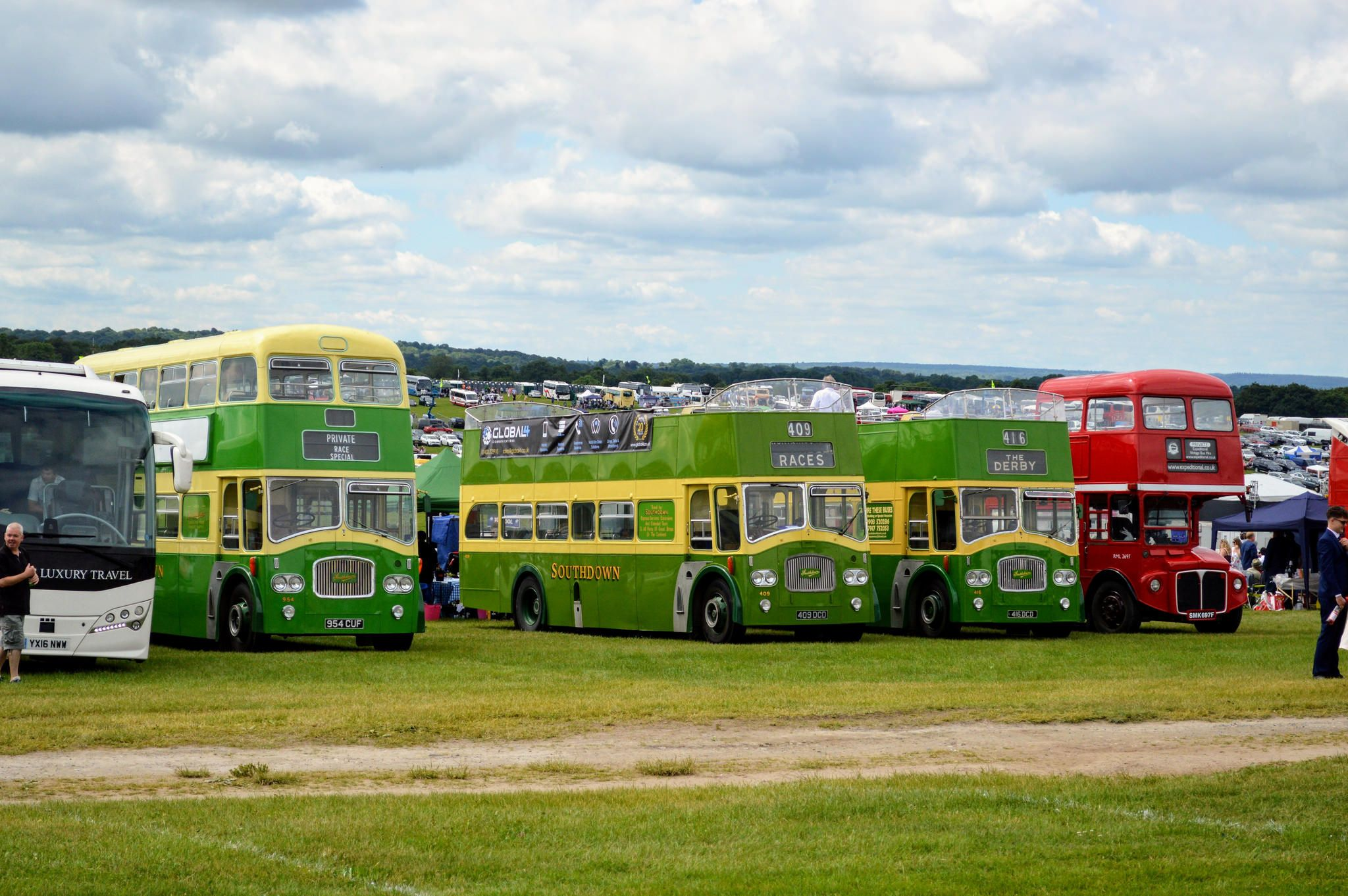 Derby day 2018 bus coach bedford buses bus city
