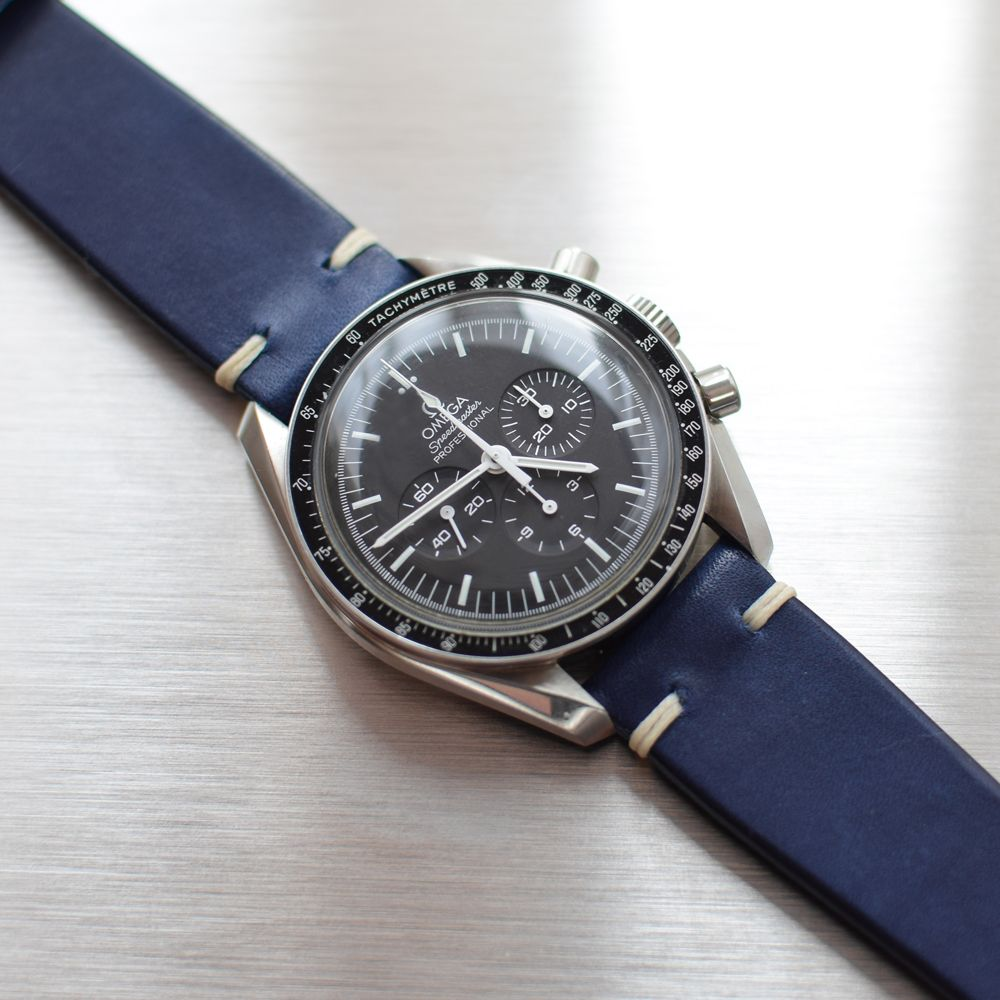 Omega Speedmaster On Our Riviera Blue Strap Watch Straps Omega