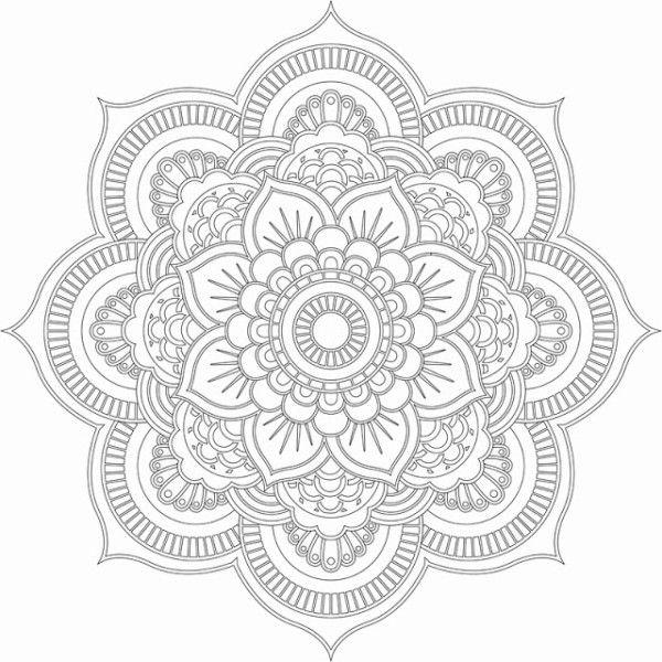 196 Dibujos de Mandalas para Colorear fáciles y difíciles | Diseño ...