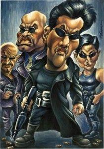 Caricaturas de peliculas de vizcarra matrix