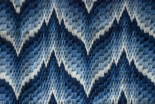 needlepoint | Bargello Needlepoint Pillowtop