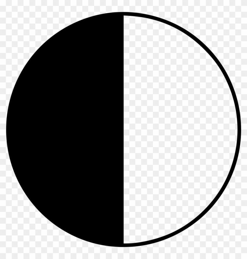 Find Hd Png File Svg Half Black Half White Circle Transparent Png Download To Search And Download More Free Tran Circle Circle Tattoo Black And White Logos