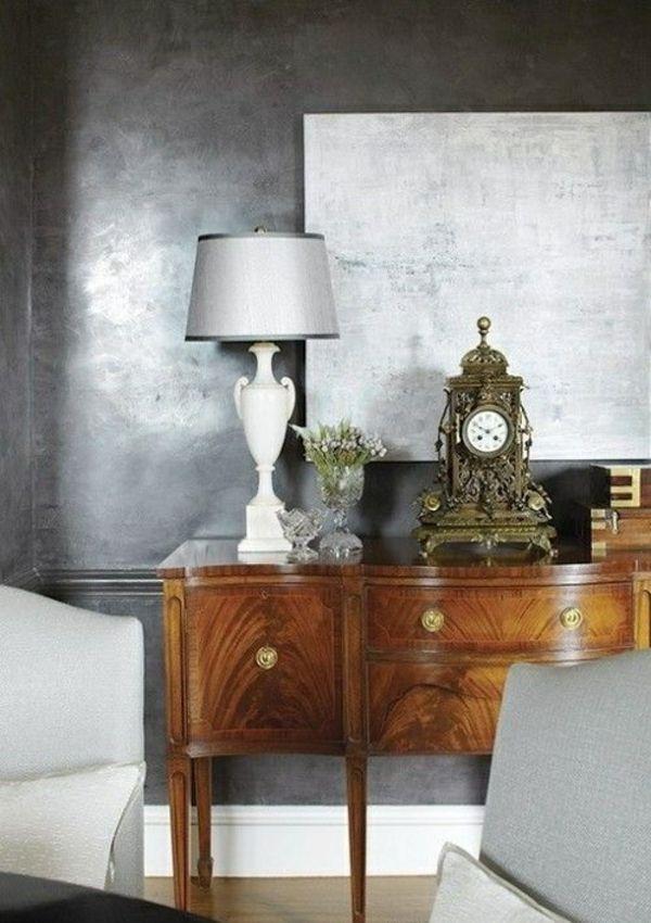 Wandfarbe Silber ist wie Licht innerhalb der Innendesigngestaltung ...