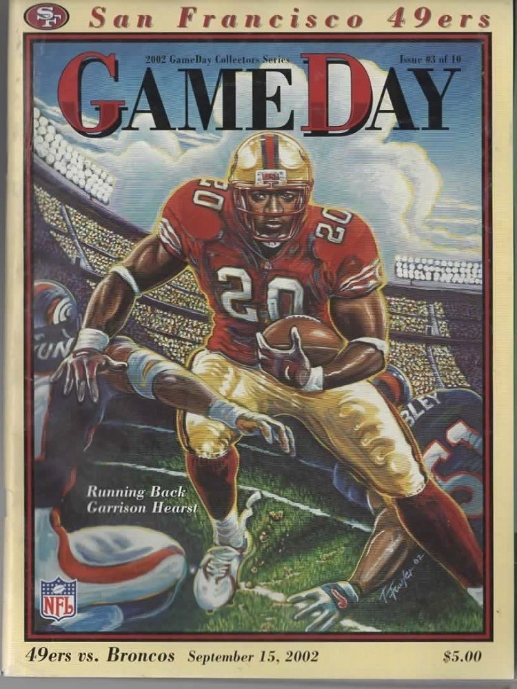 San Francisco 49ers Game Day 2002 Magazine Back Issue