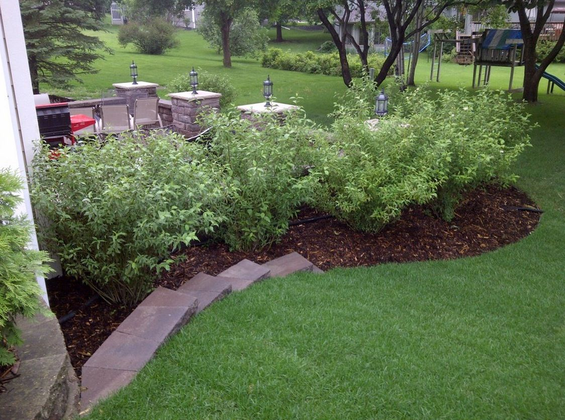 Mulch landscaping ideas exterior ideas landscaping mulch for Care for new sod