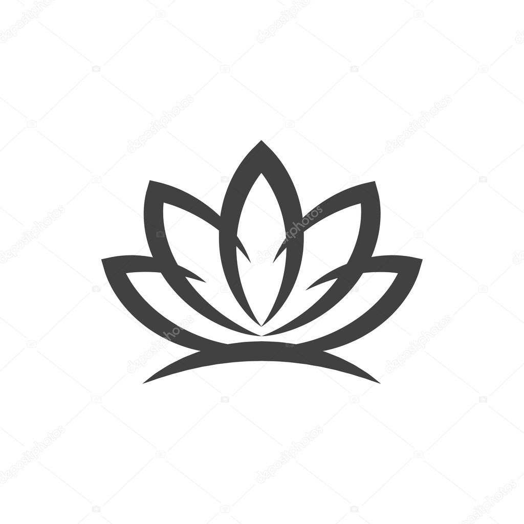 Download Royalty Free Pictograph Of Lotus Flower Icon Stock Vector