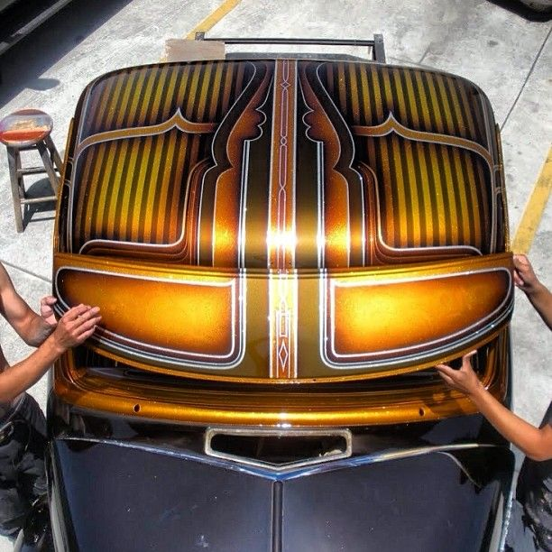 cool panel paint jobs pinterest kustom pinstriping and cars. Black Bedroom Furniture Sets. Home Design Ideas