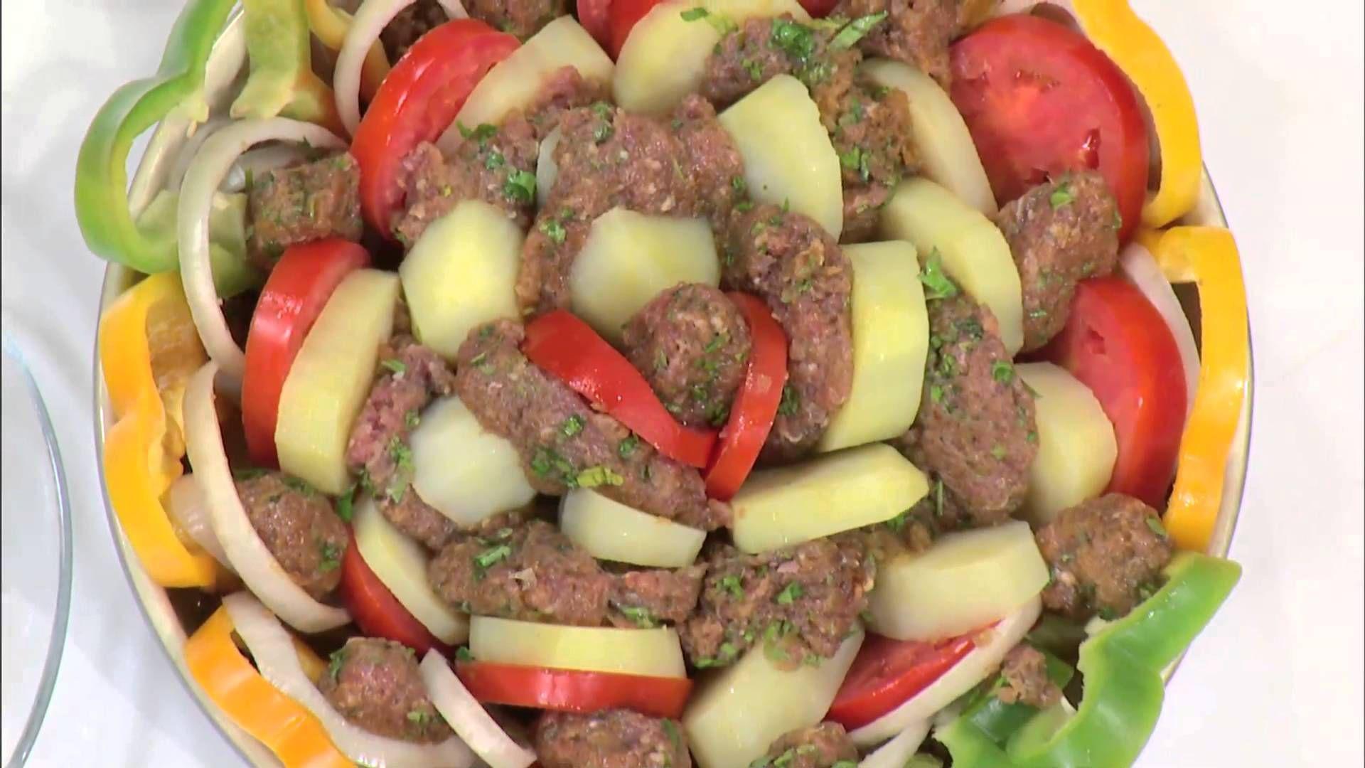 كفتة فى الفرن كرات الكفتة بالخضار مغربيات نادية سرحان Cbcsofra Middle Eastern Recipes Food Main Dishes