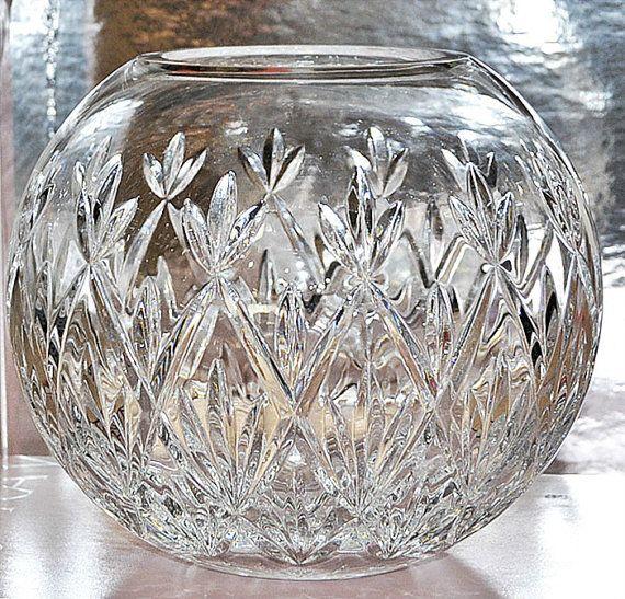 Elegant Tiffany Co Crystal Rose Bowl Sybil By Quaintestate Crystals Crystal Rose Waterford Crystal