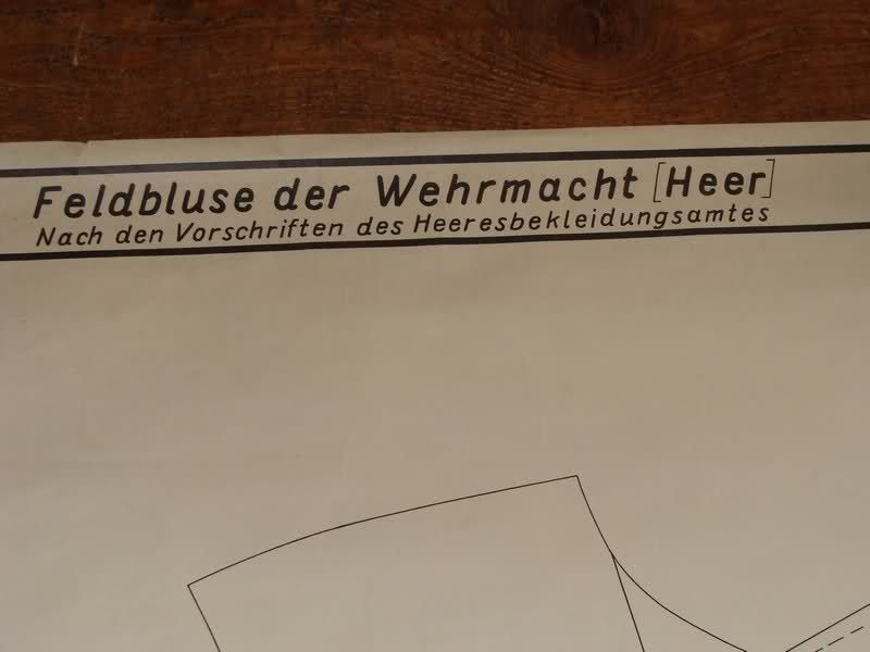 Feldbluse der Wehrmacht (Heer).Plan sewing factory - Wehrmacht-Awards.com Militaria Forums