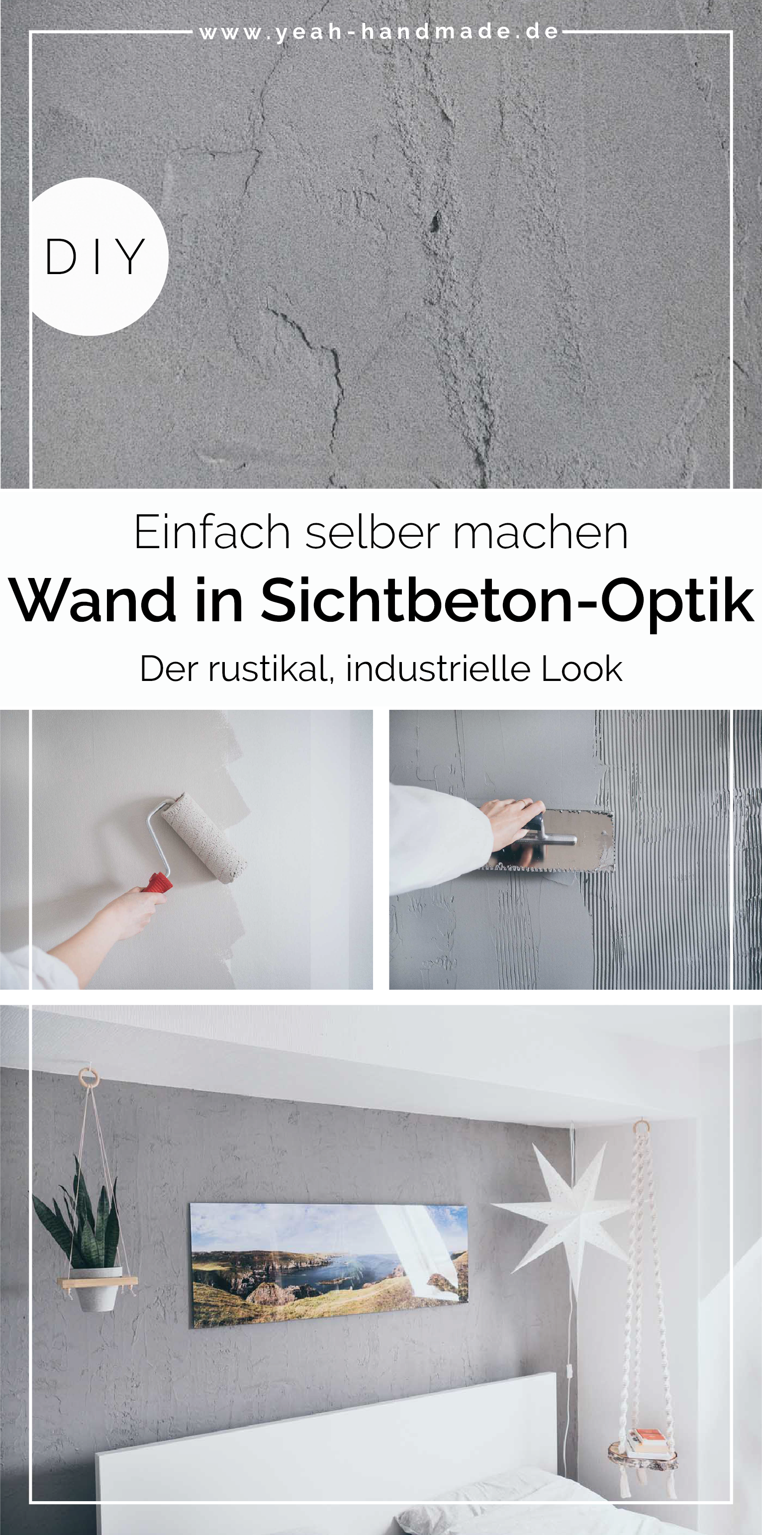 Wand In Sichtbeton Optik Selber Machen In 2020 Diy Wand Sichtbeton Betonwand