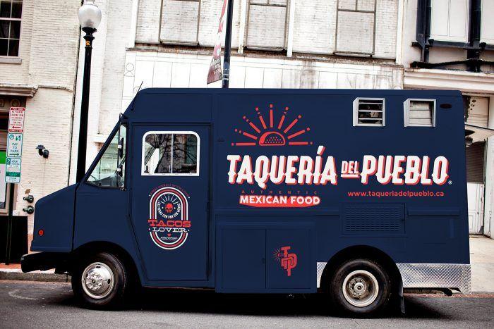 Taqueria Del Pueblo Food Truck Branding With Images Food Truck