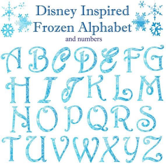 Bevroren Winter Kerstmis Snowflake alfabet en getallen ...