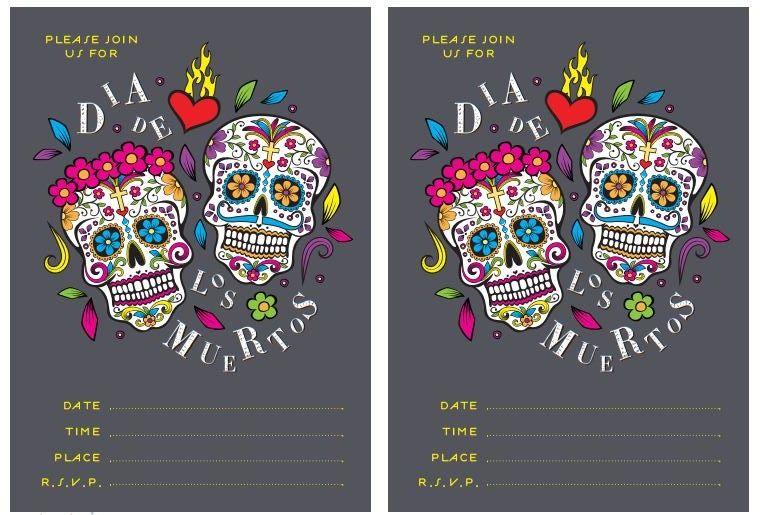 Free Dia De Los Muertos Printables Printables Party Happy Birthday Printable Day Of The Dead Party Grown Up Parties